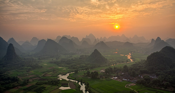 Cuiping Scenery, Yangshuo, Guilin, China
