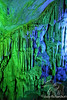 Green and Blue highlighted Stalactites