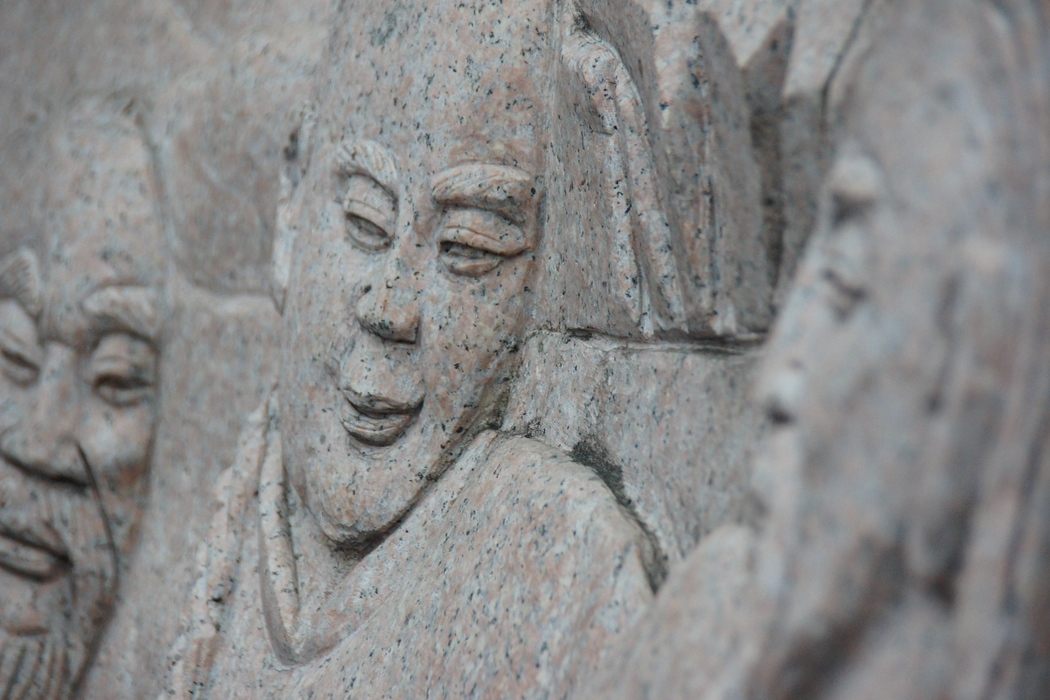 Some intricate bas-relief carvings I noticed wandering around the tourist city of Guilin, China.  Travel photo from Guilin, China.