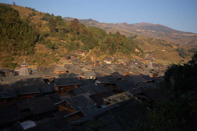 Dusk at Zhaoxing