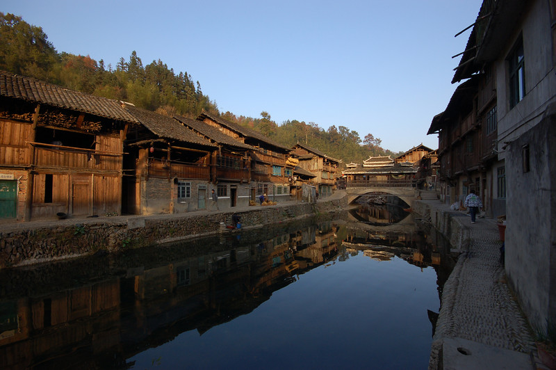 One of many bridges in Zhaoxing