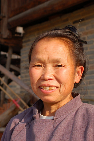 A friendly Dong woman at a village outside Zhaoxing