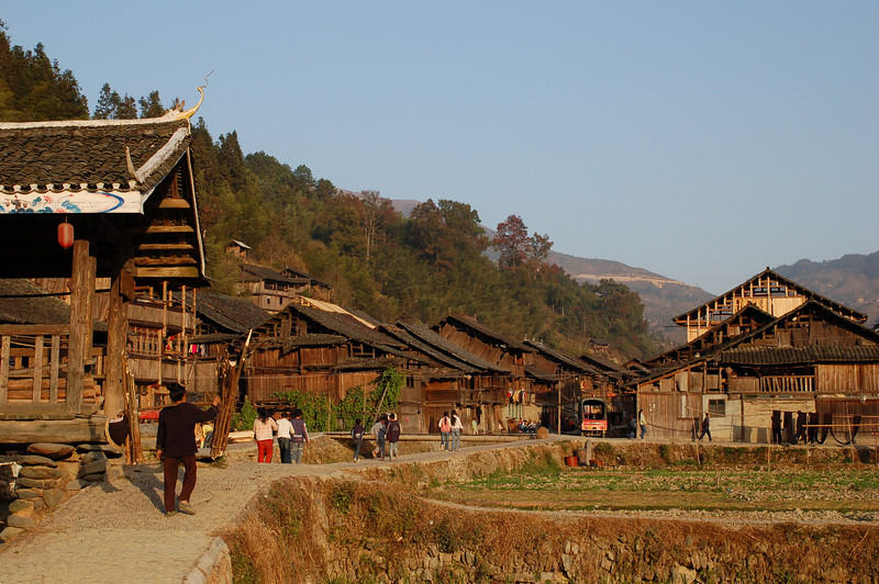 Road through Zhaoxing