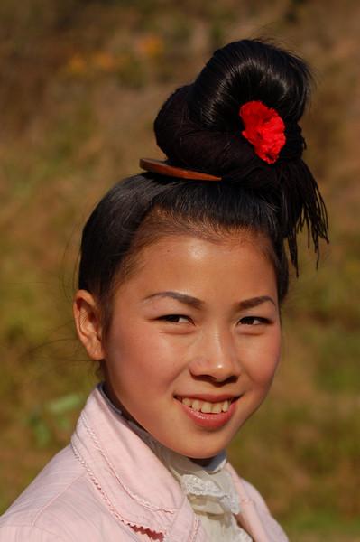 A teenage Dong girl