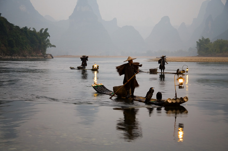 Traditional fishing at Li Jiang, Guilin.