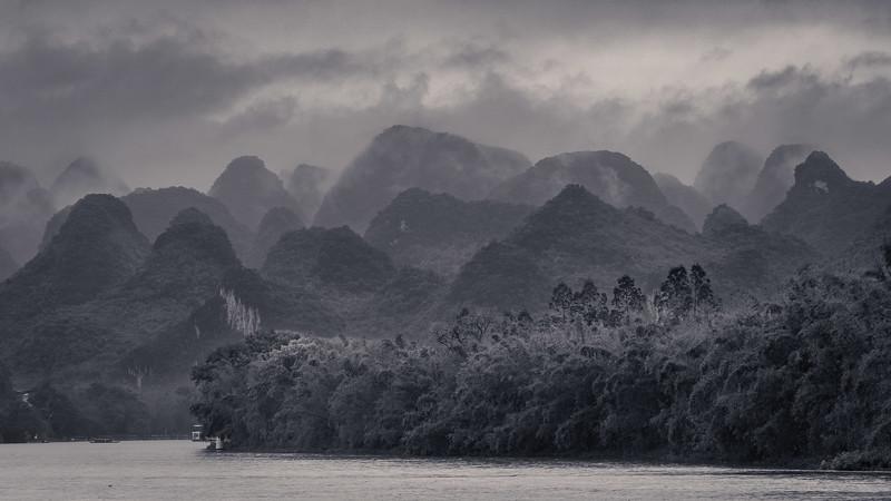 Rain Over Li River