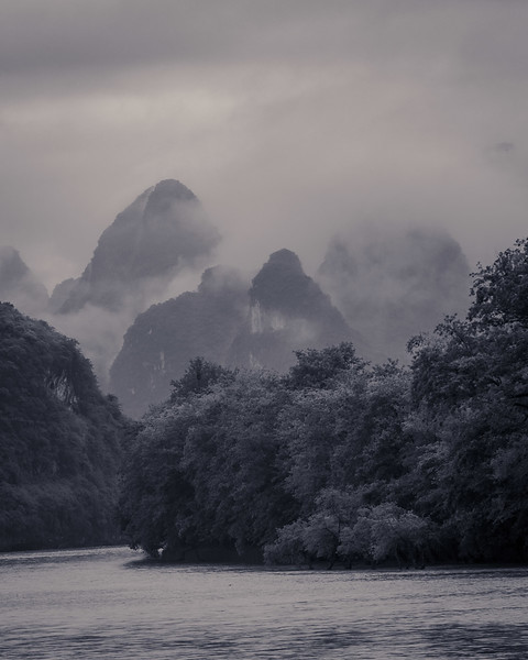 Karst Mountains in Clouds