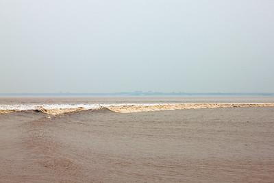 Tidal Bore on the Qiantang River, Hangzhou, China