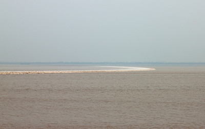 Tidal Bore on the Qiantang River, Hangzhou, China