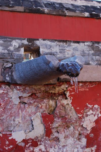 Xumifushou Temple: Ice on October 31st