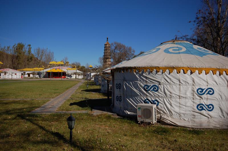 Mongolian yurts with AC