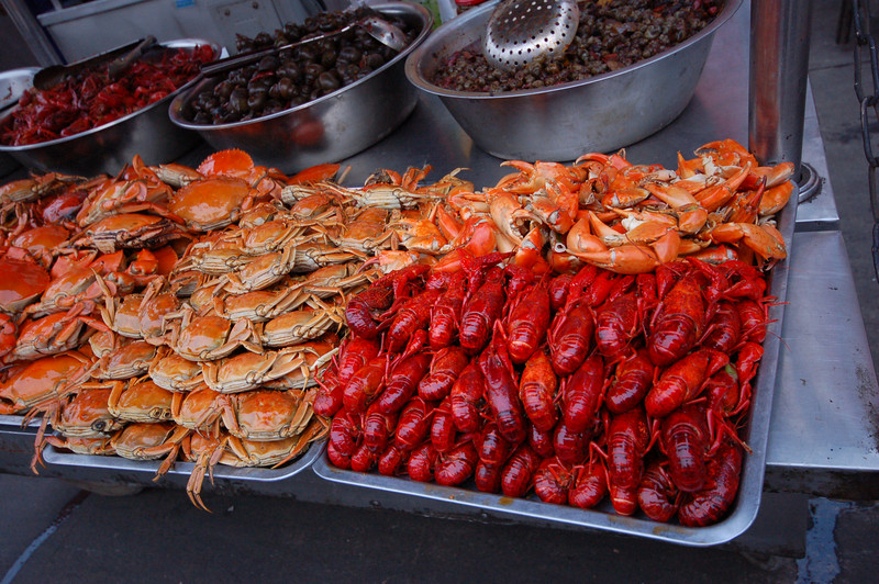 Some seafood at the night market.