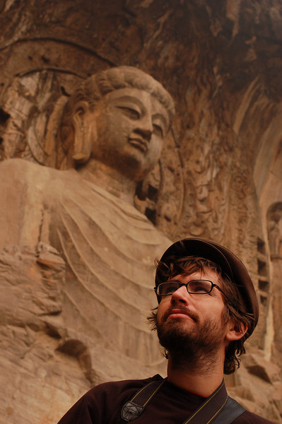 Yann With Vairocana, the central Buddha of the Fenxian (Ancestor Worshipping) Temple