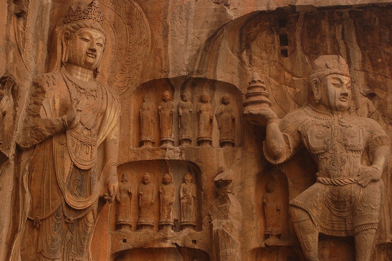 Bodhisattvas at the Fenxian (Ancestor Worshipping Temple)