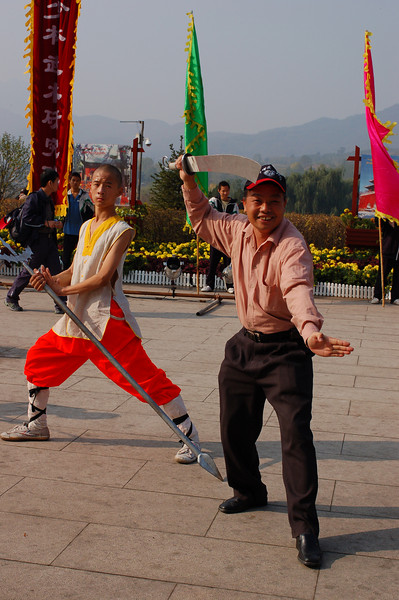 You can even pose with the Shaolin monks