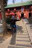 Jean surfing inside Shaolin Temple