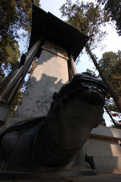 A giant steele inside Shaolin Temple