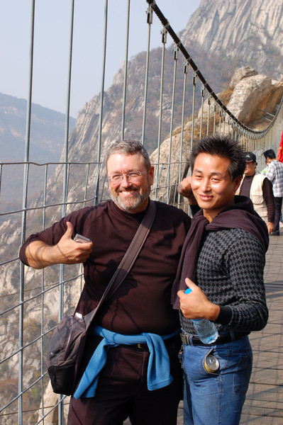 Jean gets besieged by Chinese tourists on the bridge
