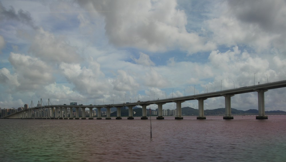Scenic views from a Macau bridge