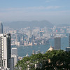 View of Hong Kong Harbor from the Peak