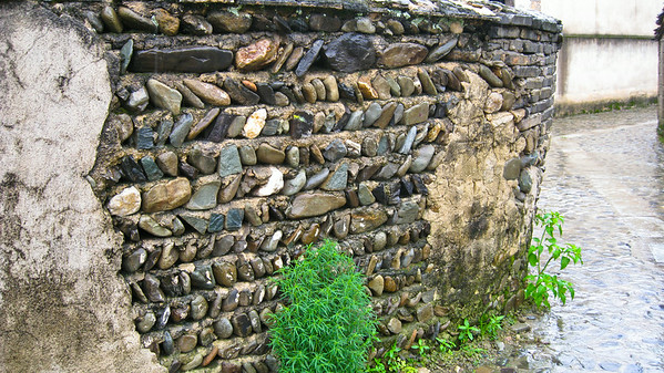 Interesting wall--Hongcun Village, China