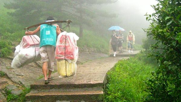 A porter--Huangshan, China