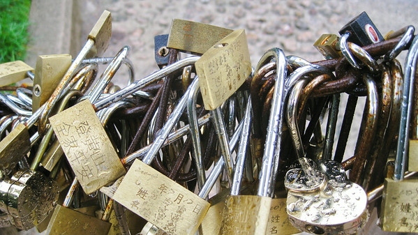 Love locks--Huangshan, China