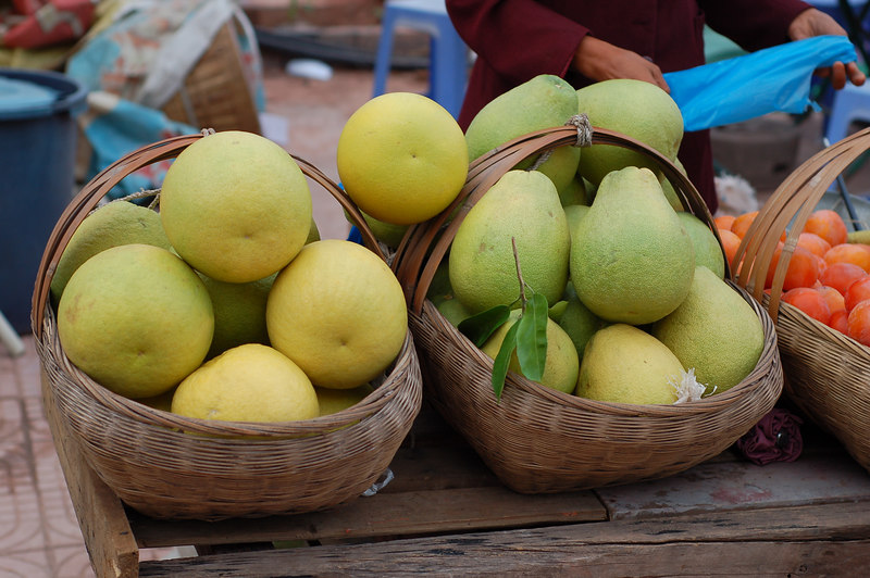 Fruits for sale near the dock