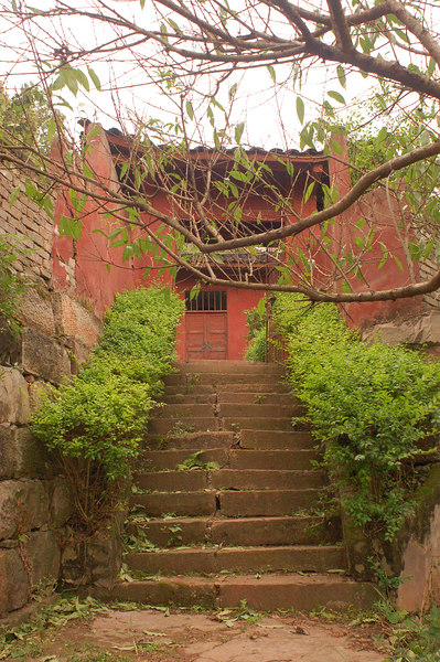 Stairs in small temple
