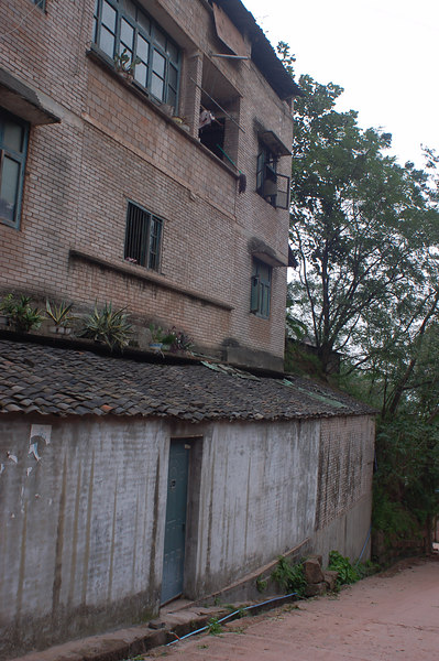 Homes in backstreets of Ghost town