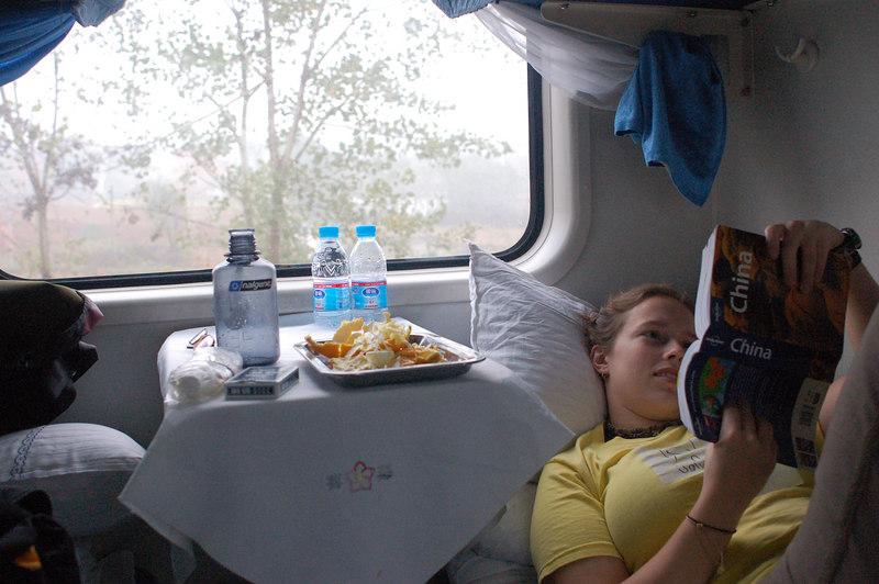 Em in sleeper train