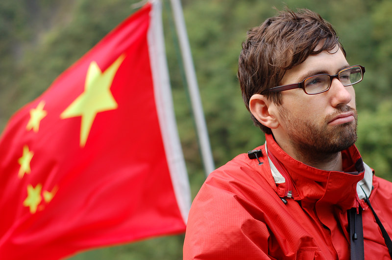 Yann and the Chinese flag on the Shennong