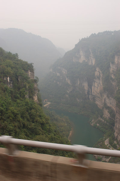 Three gorges from the bus