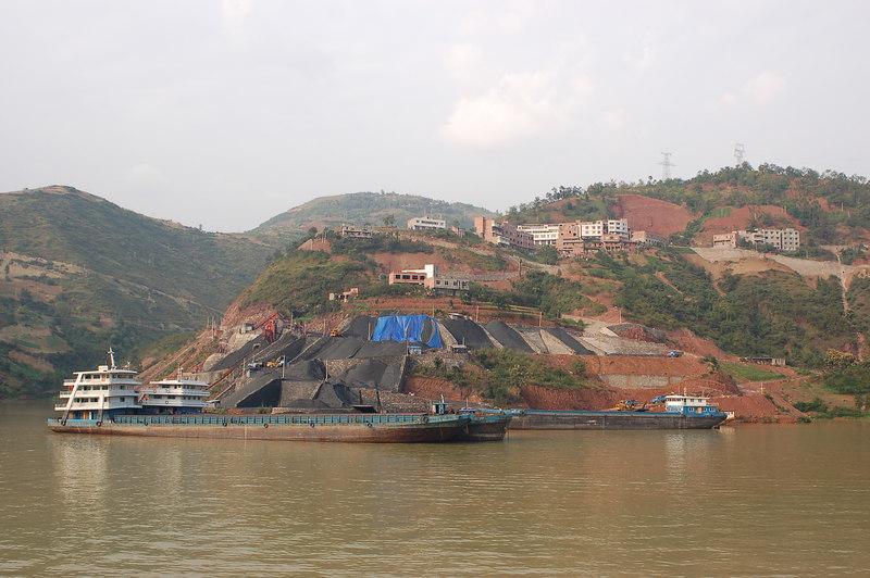 Cargo boats on the Yangtze