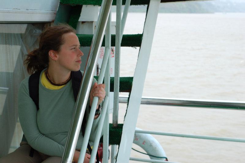 Emilie admiring the Yangtze
