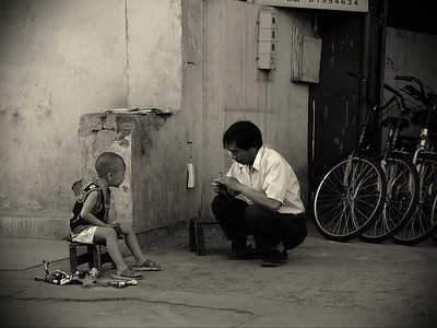 Father and son, Beijing