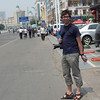Yann exploring the streets of Hohhot
