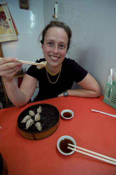 Dumplings for breakfast in Beijing