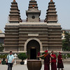 Visiting monks at the Five Pagoda Temple