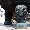 Foot of a water cauldron at the Dazhao Temple