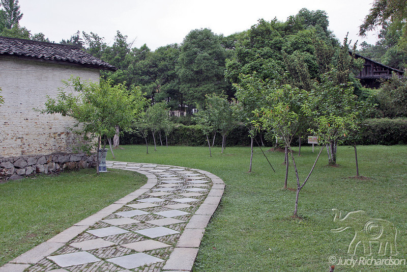 Lush garden and path in Jingdezhen Porcelain factory