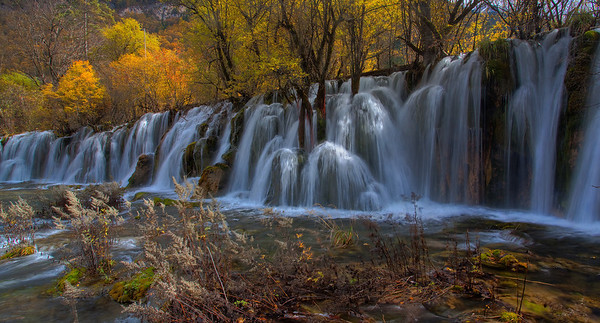 Waterfall at Panda Lake, JiuZhaiGuo, China
