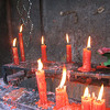Drippy candles at the Bamboo Temple, Kunming.