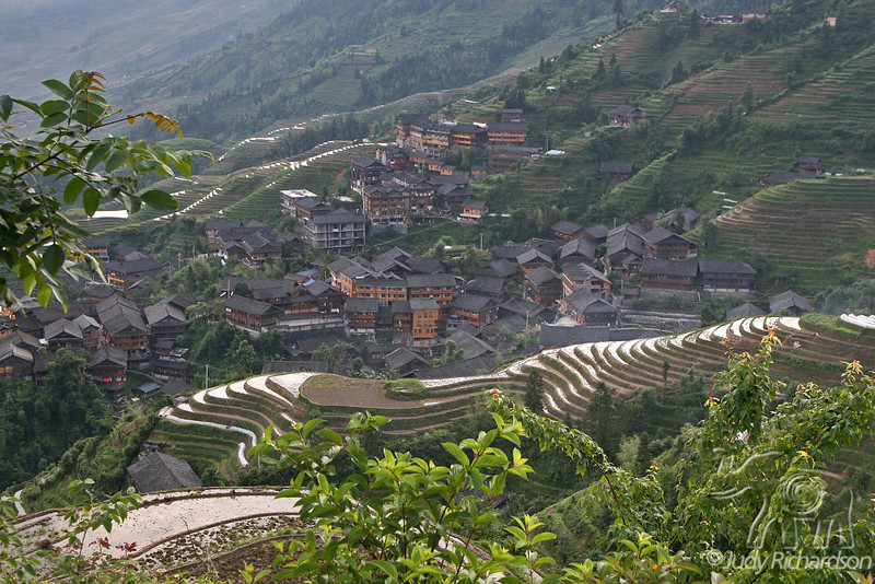 Ping'An Village from above the rice terraces