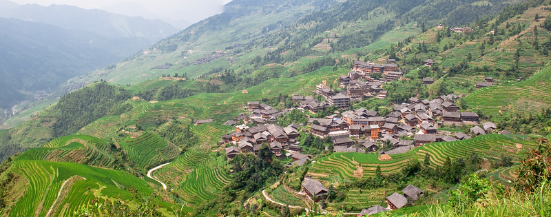 Village at Longji Rice Terrace, China (龙胜梯田)