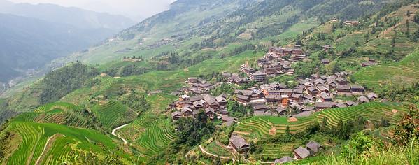 Village at Longji Rice Terrace, China (龙胜梯田)
