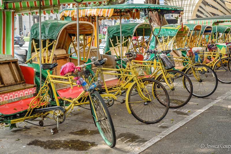 Trishaws Outside the Casino