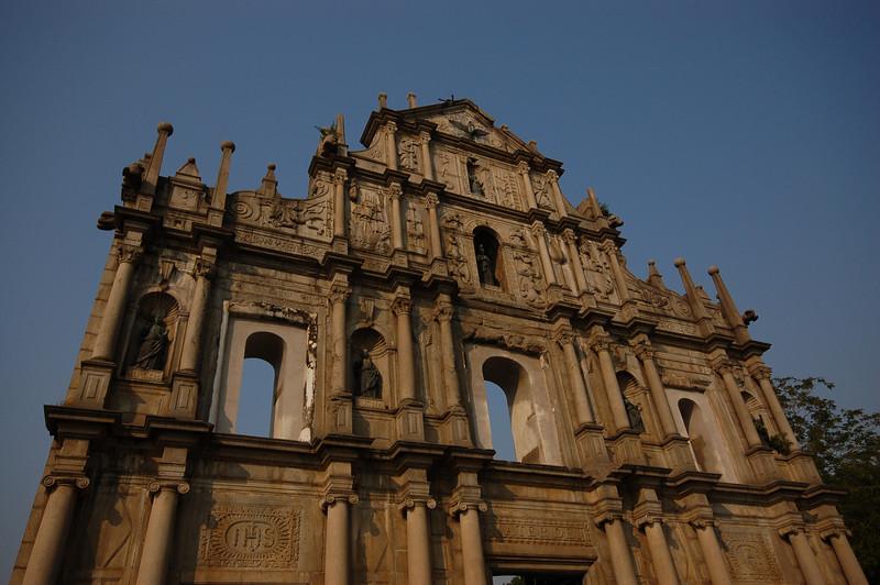 The beautiful Ruins of St Paul's, symbol of Macau