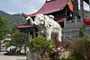Elephant statue outside Temple