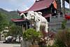Elephant statue outside Temple